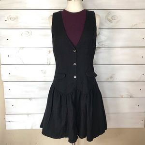 Free People | Black Wool Blend Vest Dress